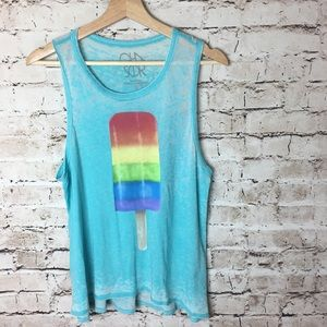 Chaser blue light weight tank, small